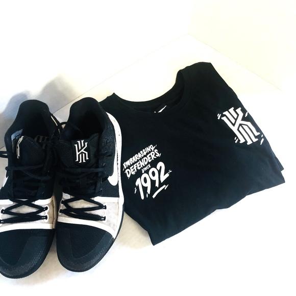 best website 07ea1 cbba6 Men's Nike Kyrie 3 Tuxedo Size 8 Black/White